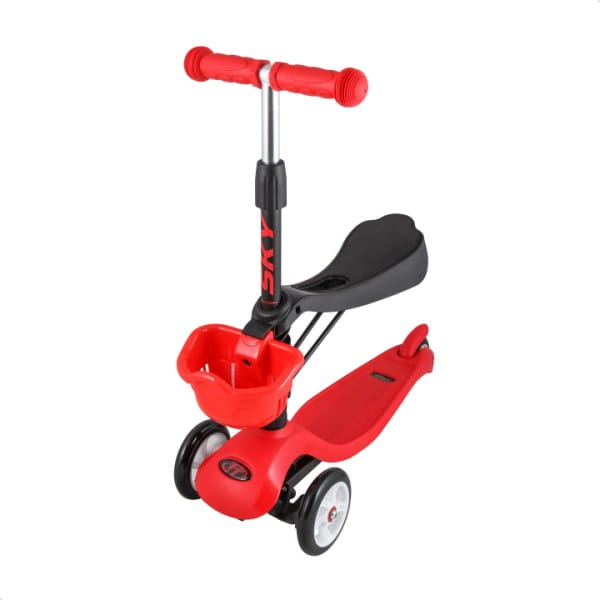 Детский самокат TechTeam во3024-4 Sky Scooter New - красный