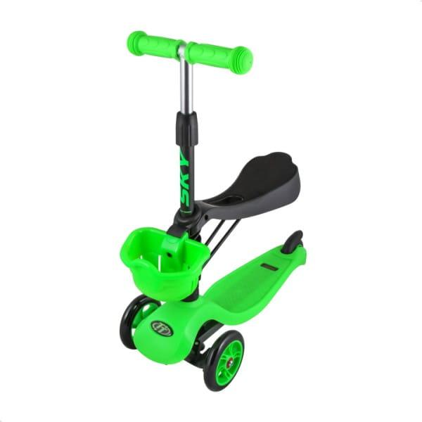 Детский самокат TechTeam во3024-1 Sky Scooter New - зеленый