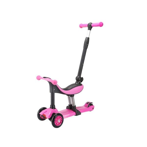 Детский самокат TechTeam во3025-1 Genius - розовый