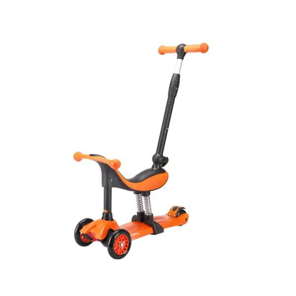 Детский самокат TechTeam во3025-2 Genius - оранжевый