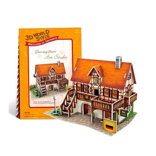 Купить Объемный 3D пазл CubicFun Особенности Германии (Арт-студия) в интернет магазине игрушек и детских товаров
