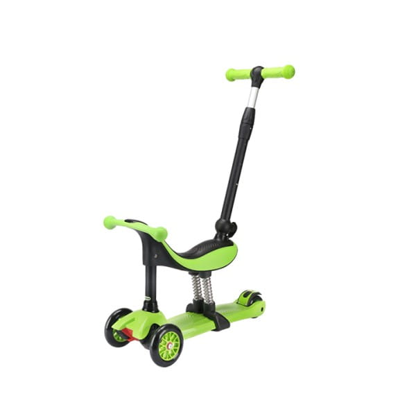 Детский самокат TechTeam во3025-3 Genius - зеленый