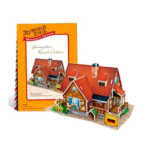 Купить Объемный 3D пазл CubicFun Особенности Германии (Сельский домик) в интернет магазине игрушек и детских товаров