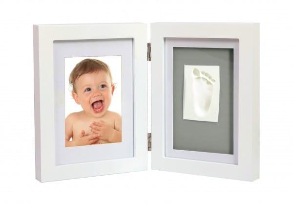 Рамка двойная Adora NO 005 для фотографии и отпечатка - белая (вариант 2)