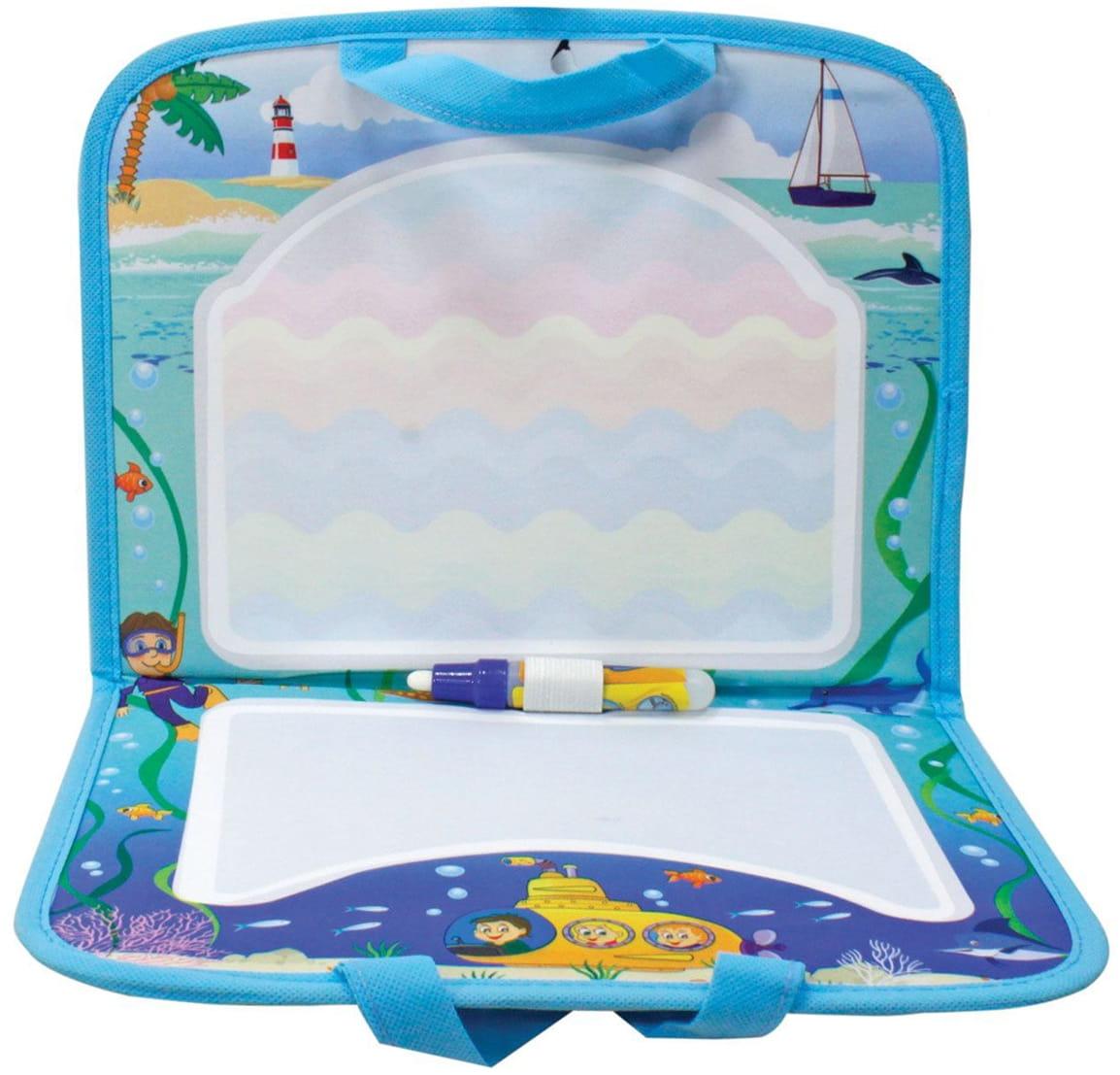 Коврик для рисования водой 1toy Т10156 AquaArt (синий чемоданчик)