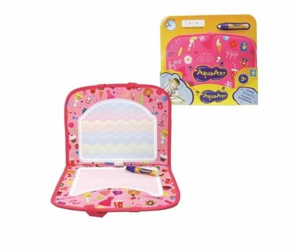 Коврик для рисования водой 1toy Т10157 AquaArt (розовый чемоданчик)