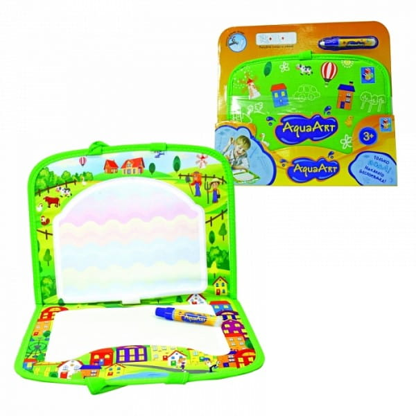 Коврик для рисования водой 1toy Т59403 AquaArt (зеленый чемоданчик)