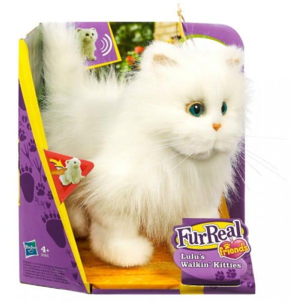 Купить Кошка ходячая FurReal Friends - белая (Hasbro) в интернет магазине игрушек и детских товаров