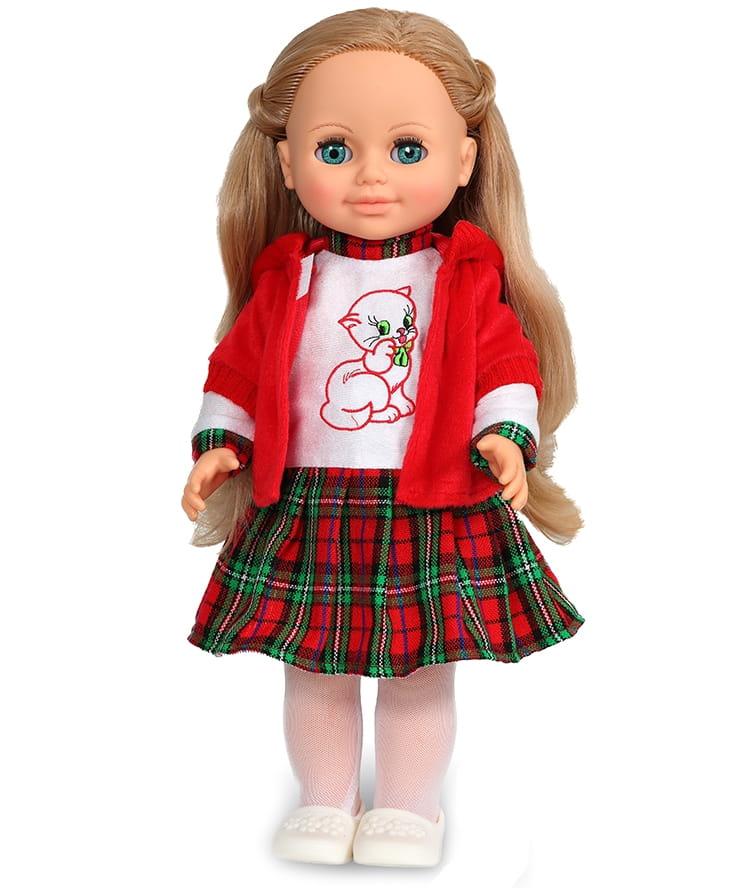 Кукла ВЕСНА Анна в клетчатой юбке (со звуком)