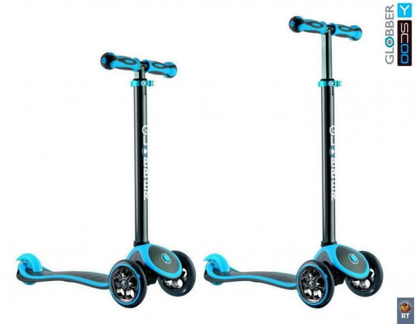 Самокат Y-Scoo Globber 4847 My free Titanium - Neon blue