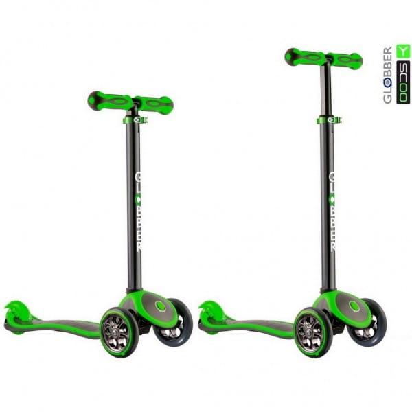 Самокат Y-Scoo Globber 4848 My free Titanium - Neon green
