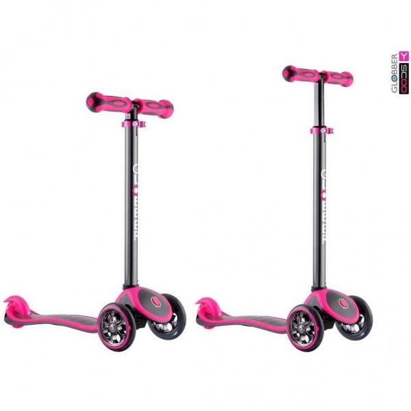 Самокат Y-Scoo Globber 4849 My free Titanium - Neon pink