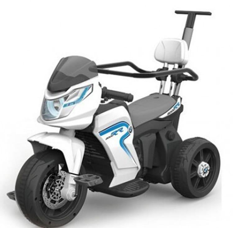 Детский электромотоцикл JIAJIA HL-108 - белый