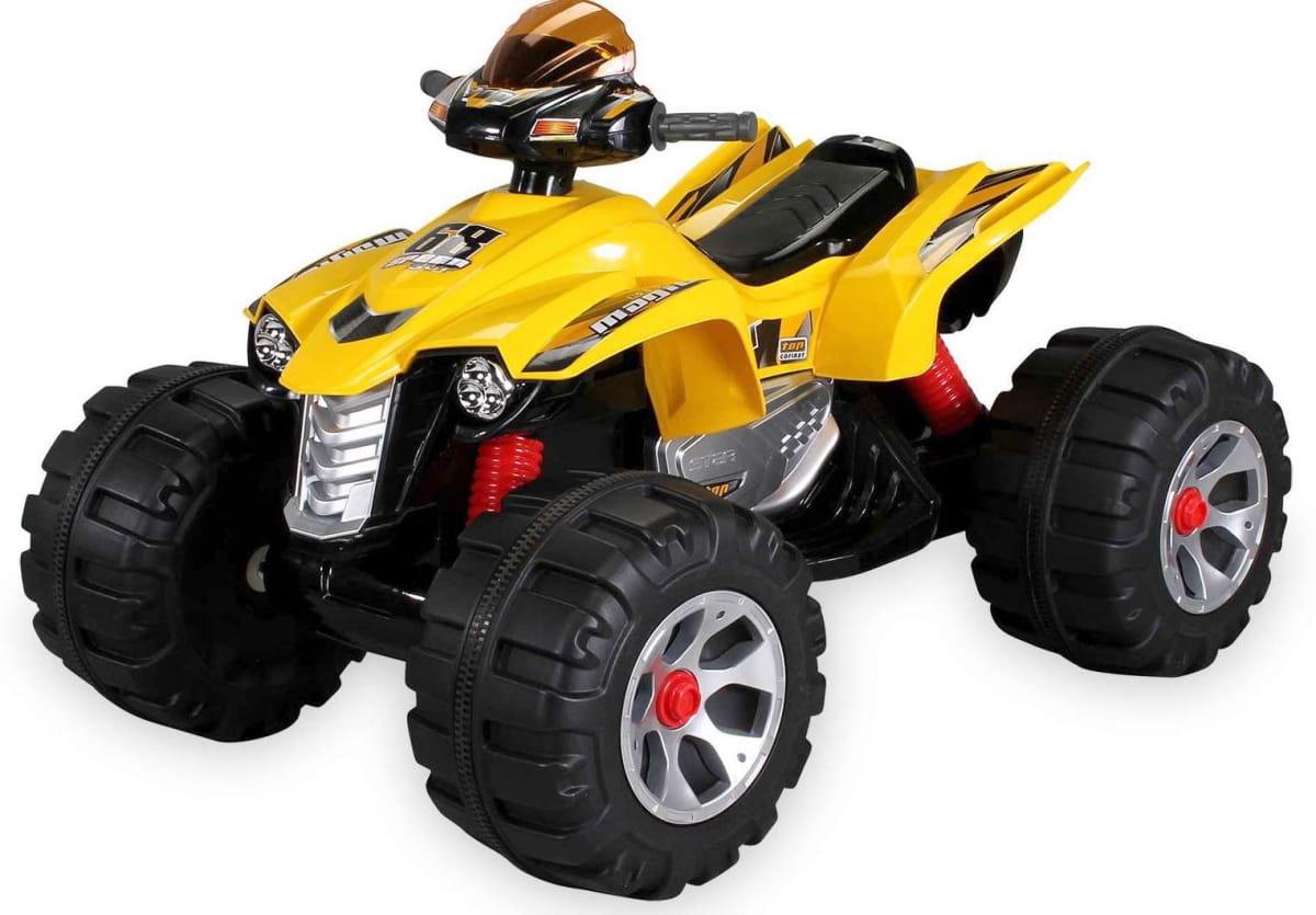 Детский элетроквадроцикл Jiajia JS318-yellow 12V - желтый
