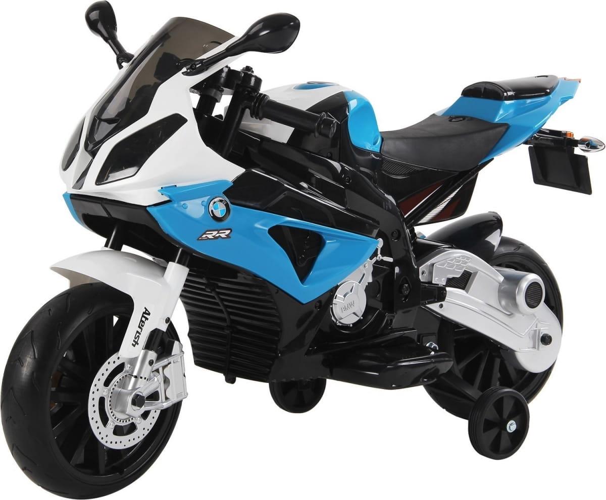 Детский электромотоцикл JIAJIA BMW S1000PR 12V - синий