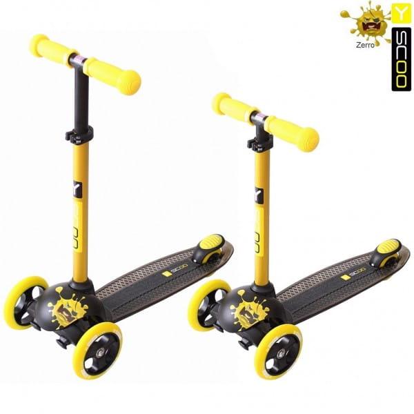 Самокат Y-Scoo 5870 RT Trio Dianond 120 Monsters 3 высоты - Yellow Zerro