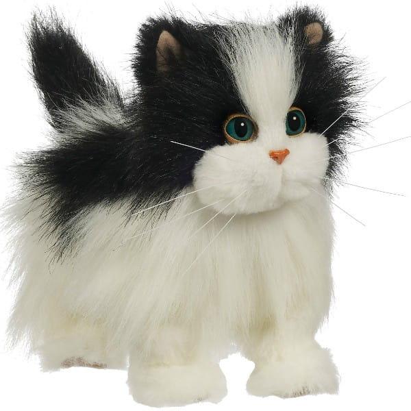 Купить Кошка ходячая FurReal Friends - бело-черная (Hasbro) в интернет магазине игрушек и детских товаров