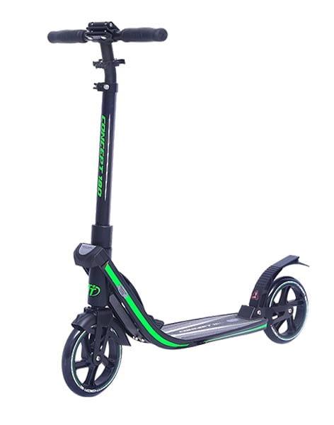 Детский самокат TechTeam во3032-2 Concept 180 - черно-зеленый