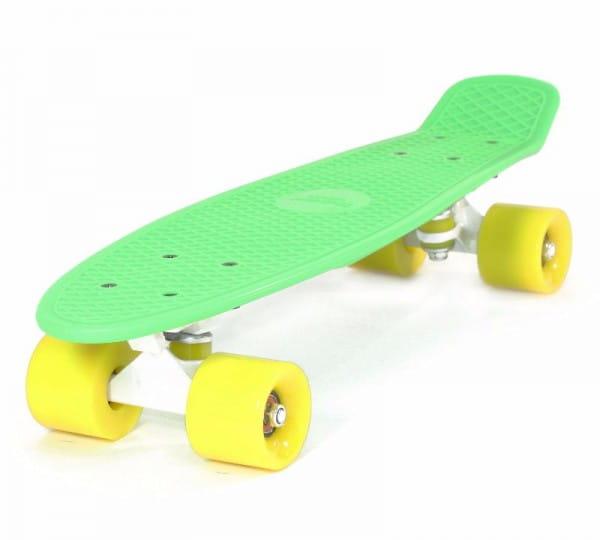 Скейтборд Hubster Cruiser 22 - зеленый с желтыми колесами