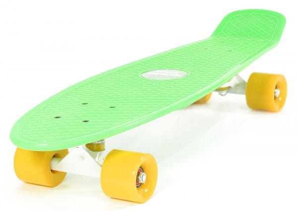 Скейтборд Hubster Cruiser 27 - зеленый с желтыми колесами