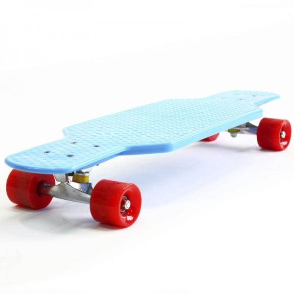 Скейтборд Hubster Cruiser 29 - синий с красными колесами