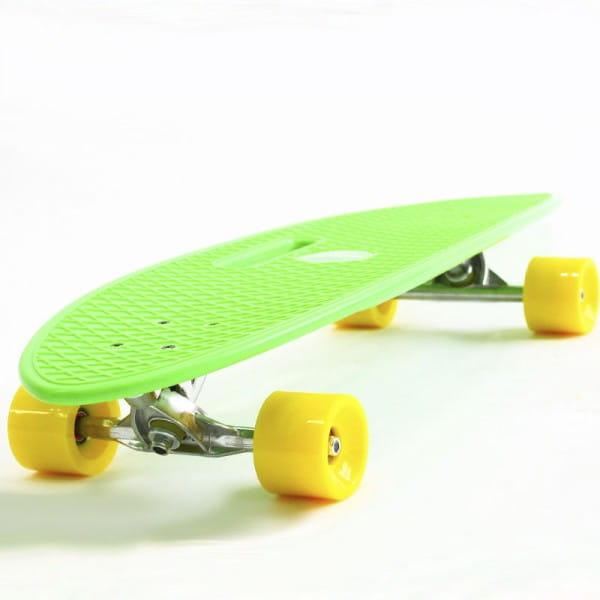 Скейтборд Hubster Cruiser 36 - зеленый с желтыми колесами