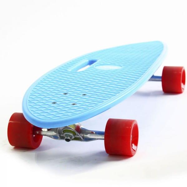 Скейтборд Hubster Cruiser 36 - синий с красными колесами