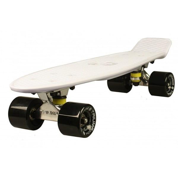 Скейтборд Triumf Active во2915 TLS-401 - белый с черными колесами