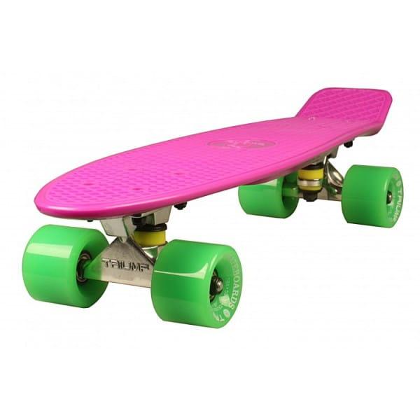 Скейтборд Triumf Active во2919 TLS-401 - розовый с зелеными колесами