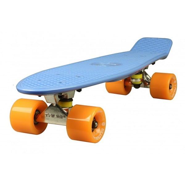 Скейтборд Triumf Active во2917 TLS-401 - синий с оранжевыми колесами