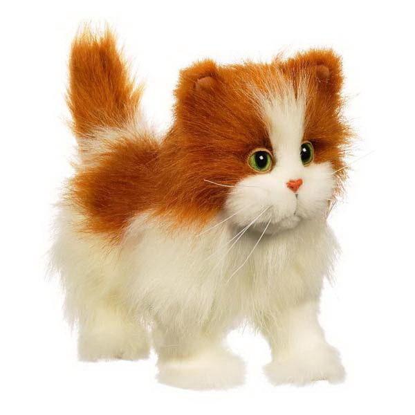 Купить Кошка ходячая FurReal Friends - бело-рыжая (Hasbro) в интернет магазине игрушек и детских товаров