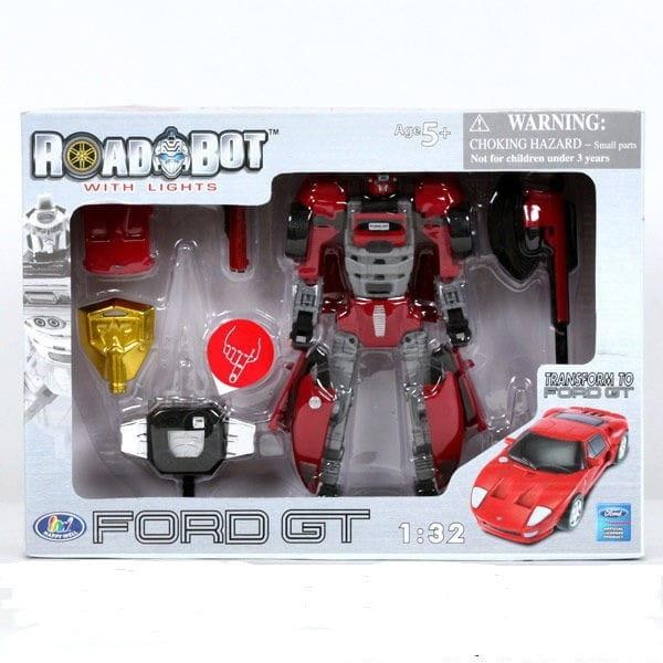 Робот-трансформер Happy Well Ford GF 1:32 со световыми эффектами - Роботы