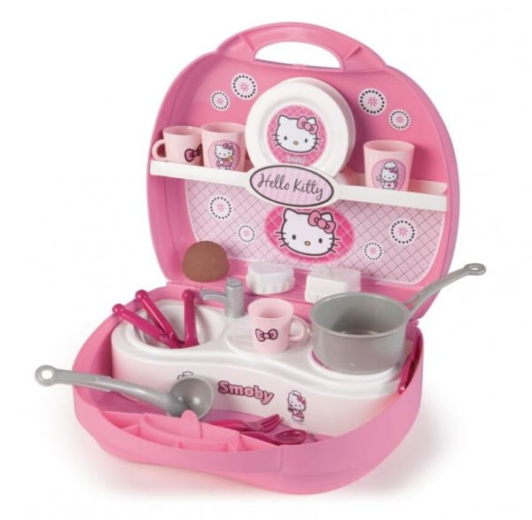 Купить Мини-кухня в чемоданчике Hello Kitty (Smoby) в интернет магазине игрушек и детских товаров