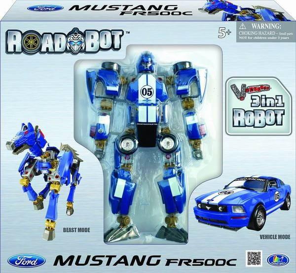 Робот-трансформер Happy Well 3 в 1 Ford Mustang FR500C 1:24 - Роботы