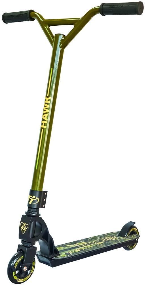 Детский трюковой самокат TechTeam во3038-1-2 Hawk - зеленый