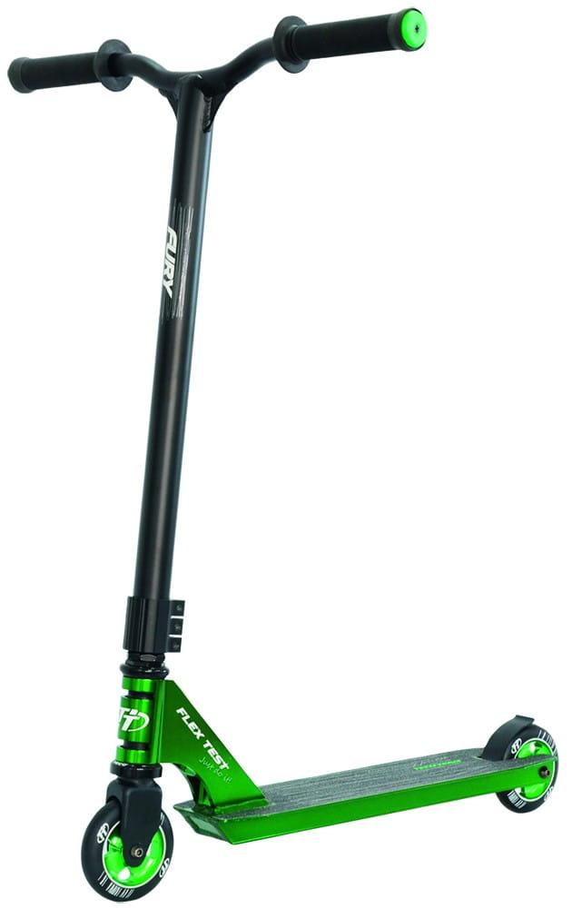 Детский трюковой самокат TechTeam во3042-1 Fury - зеленый