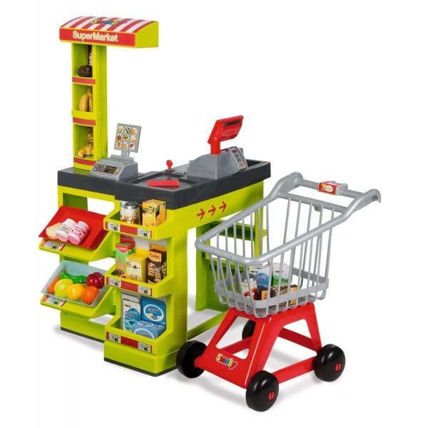 Купить Супермаркет с тележкой Smoby в интернет магазине игрушек и детских товаров
