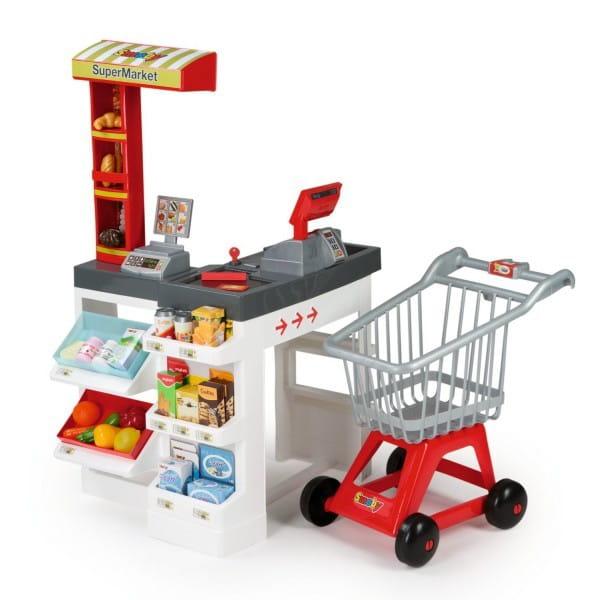 Купить Супермаркет с тележкой Smoby (со звуком) в интернет магазине игрушек и детских товаров