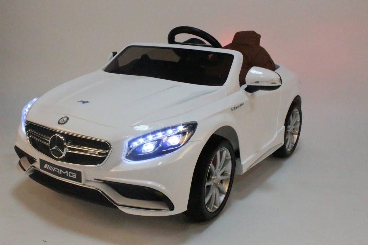 Электромобиль Barty HL-169 Mercedes S63 - белый глянец