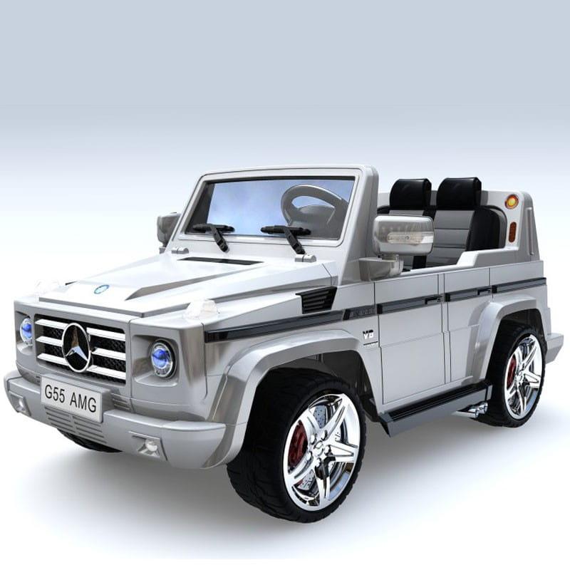 Электромобиль Barty DMD-G55 Mercedes G55 - серебро глянец
