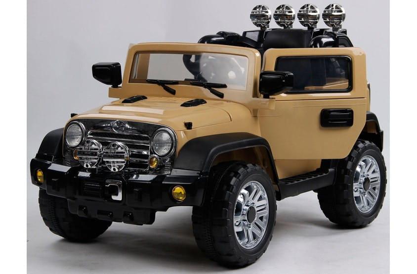 Электромобиль Barty JJ235AR/2M Jeep Wrangler - бежевый глянец