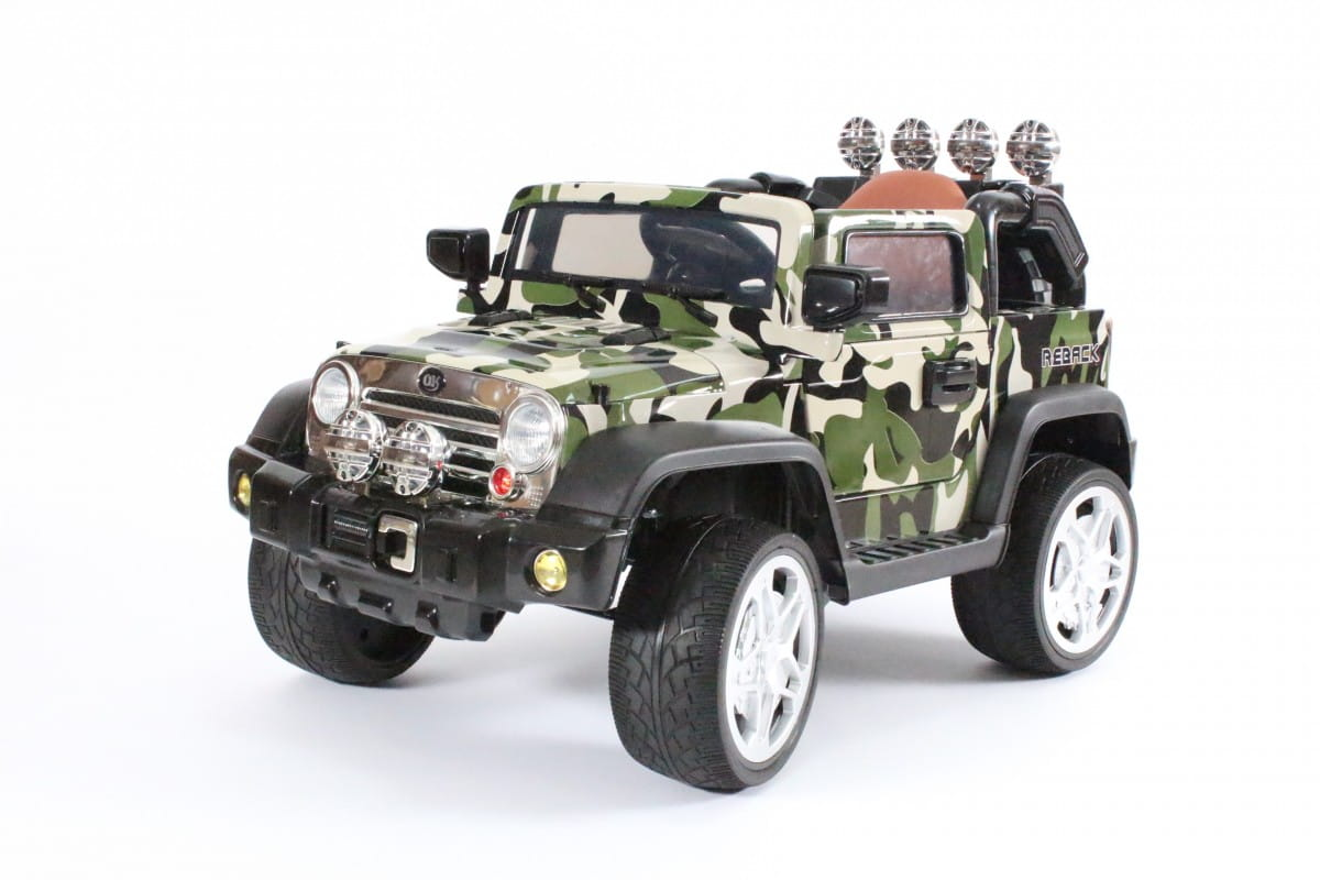 Электромобиль Barty JJ235AR/2M Jeep Wrangler - камуфляж