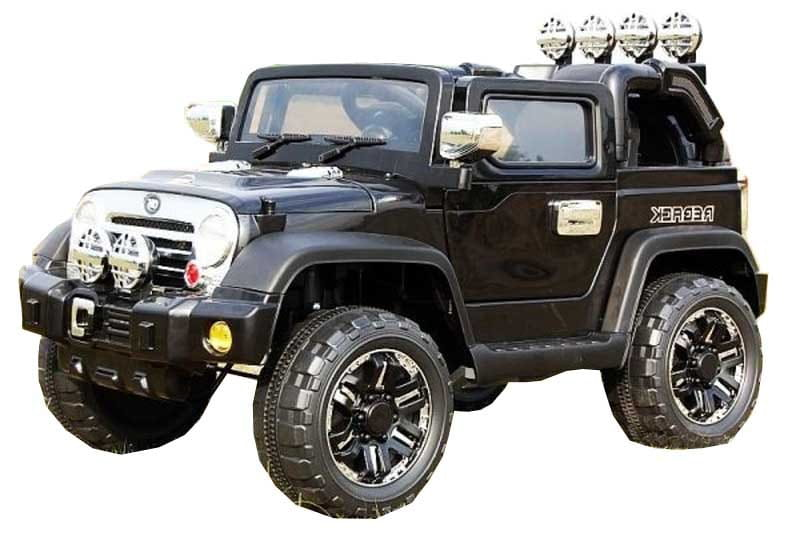Электромобиль Barty JJ235AR/2M Jeep Wrangler - черный глянец