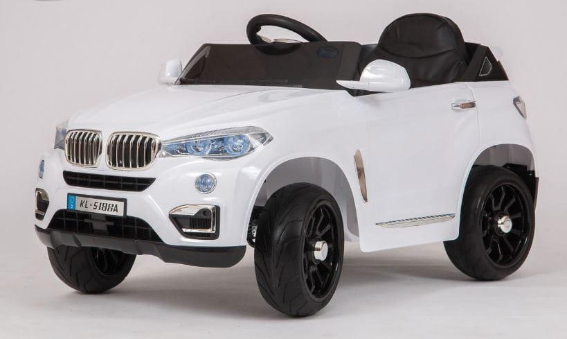 Электромобиль Barty KL-5188A BMW X5 VIP - белый глянец