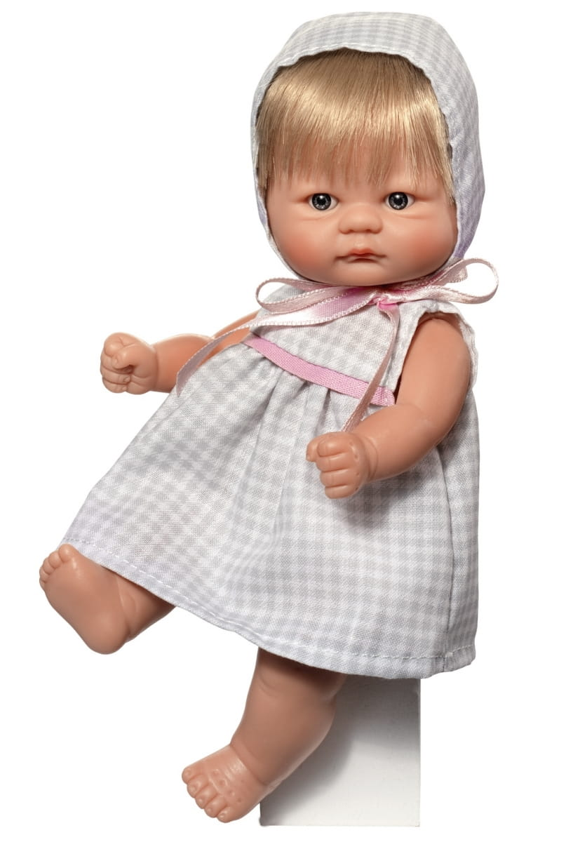 Кукла-пупс ASI - 20 см (в сером платье в клетку)