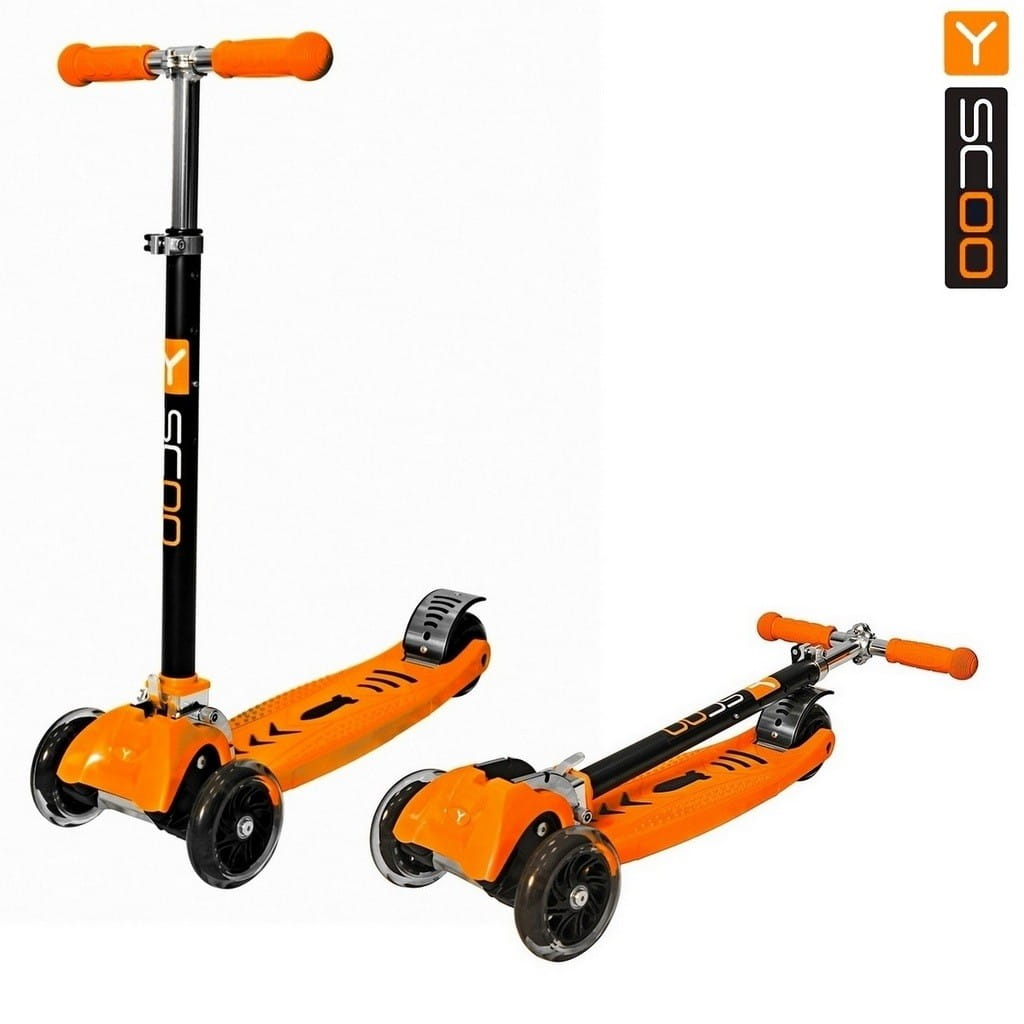 Самокат Y-Scoo 4956 Maxi City Simple Gagarin - Orange