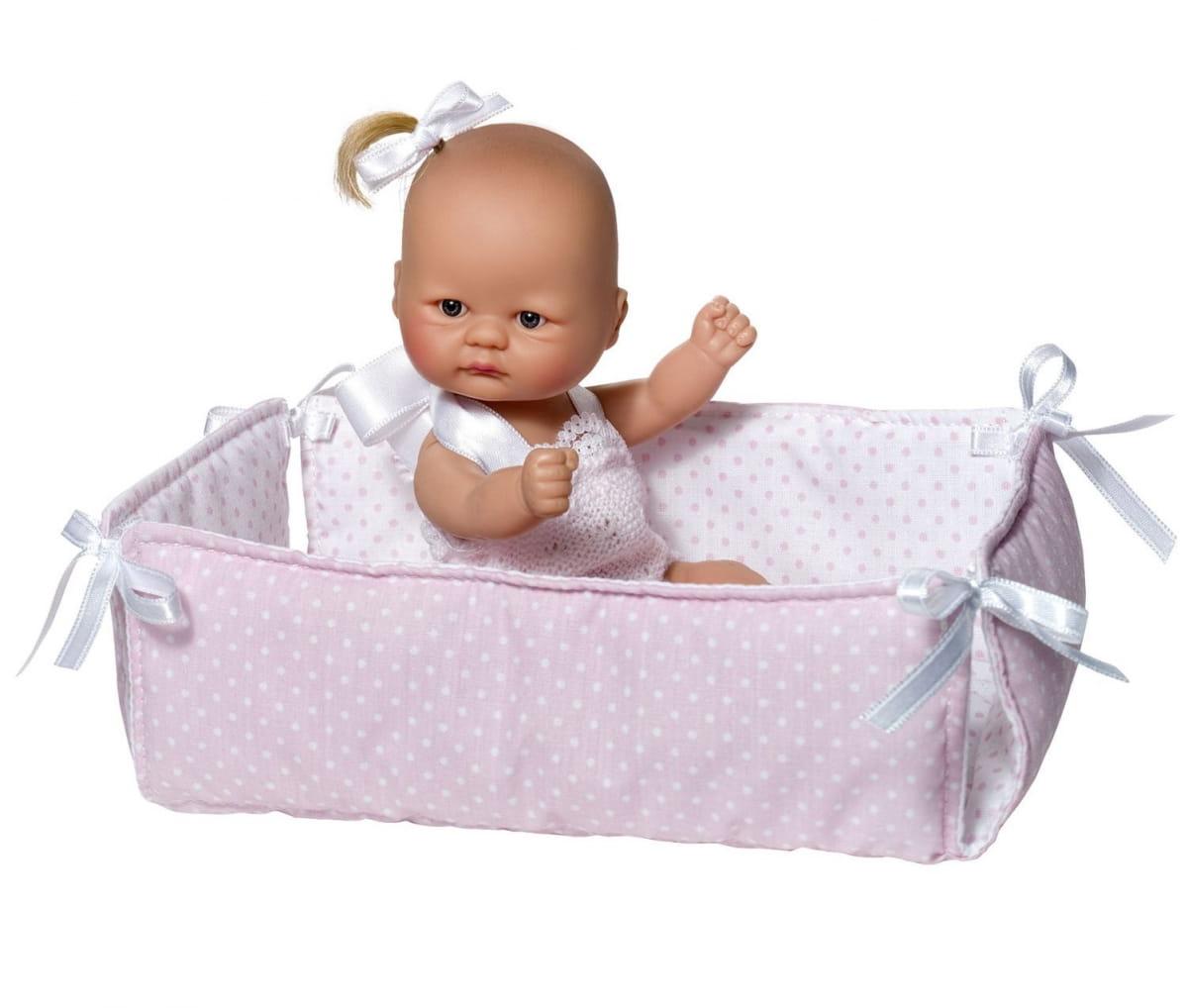 Кукла-пупс ASI - 20 см (розовый манеж)