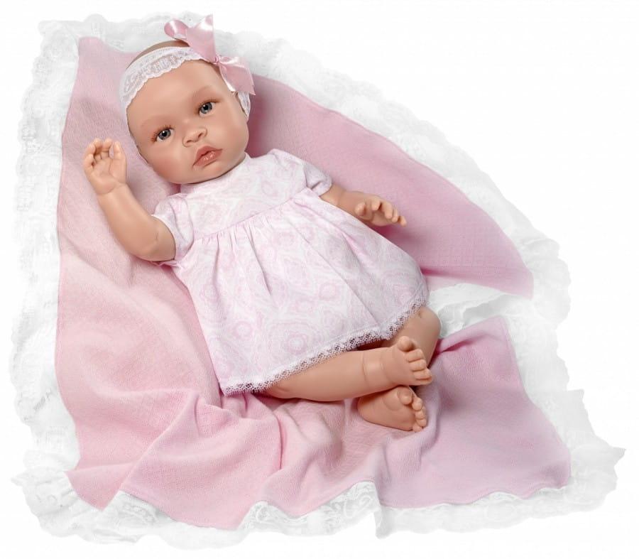 Кукла-пупс Asi 183730 Лео - 46 см (с розовым пледом)