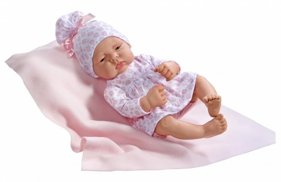 Кукла-пупс Asi 323830 Лючия - 40 см (в розовом костюмчике с принтом)