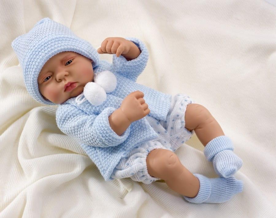 Кукла-пупс Asi 2320042 Лулу - 40 см (в голубом костюмчике и шапочке)